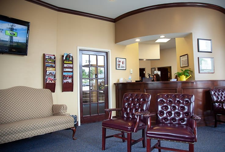 Comfortable dental office waiting room