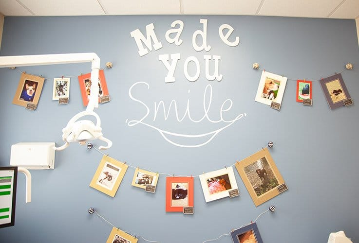 Made You Smile patient photo wall